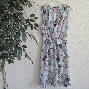 APT 9 floral sleeveless ruffle dress medium